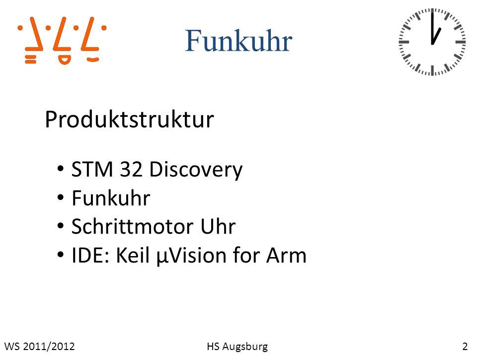 Funkuhr Produktstruktur STM 32 Discovery Funkuhr Schrittmotor Uhr
