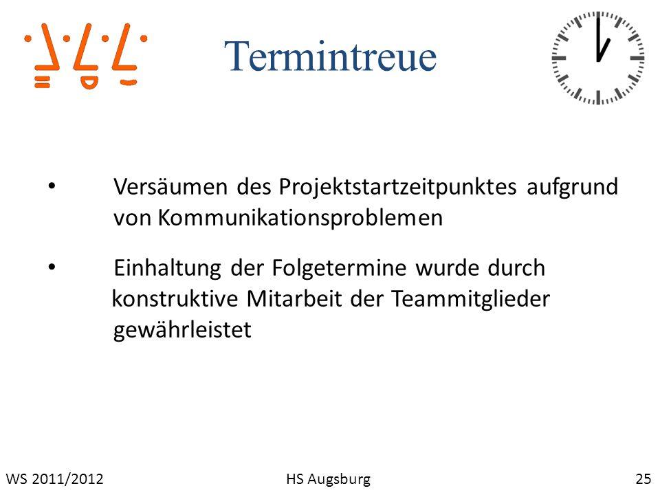 Termintreue Versäumen des Projektstartzeitpunktes aufgrund