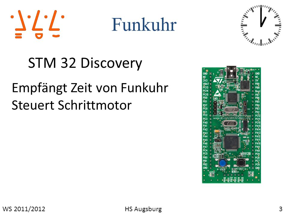 Funkuhr STM 32 Discovery Empfängt Zeit von Funkuhr