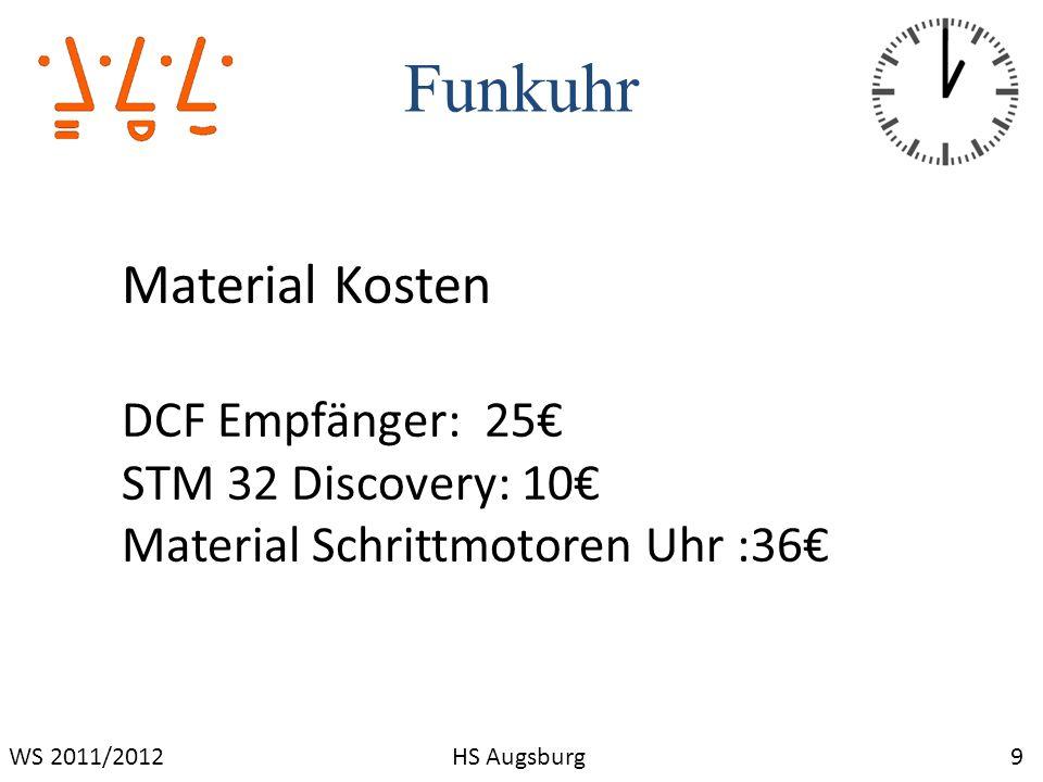 Funkuhr Material Kosten DCF Empfänger: 25€ STM 32 Discovery: 10€