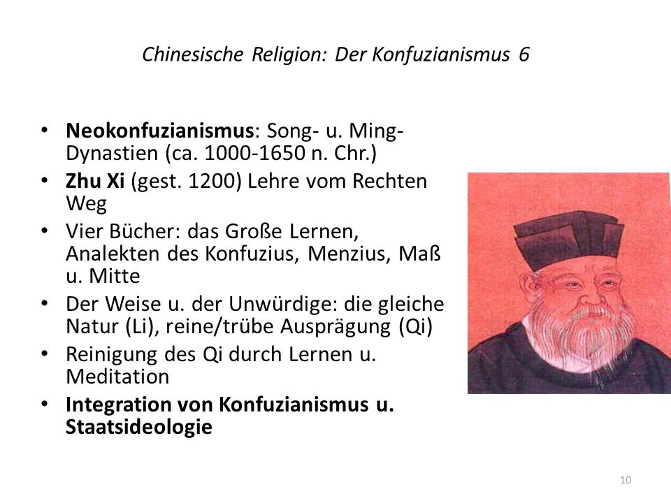 Chinesische Religion: Der Konfuzianismus 6