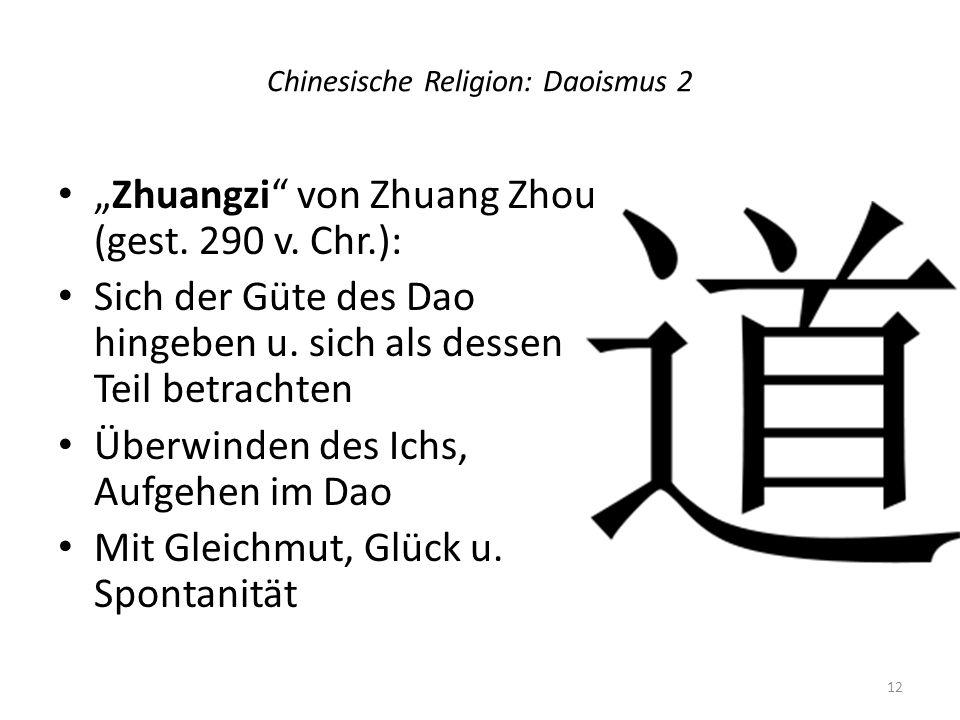 Chinesische Religion: Daoismus 2