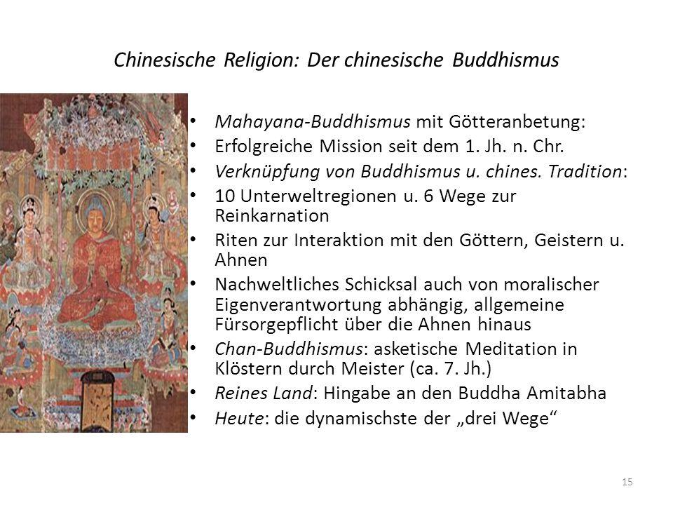 Chinesische Religion: Der chinesische Buddhismus