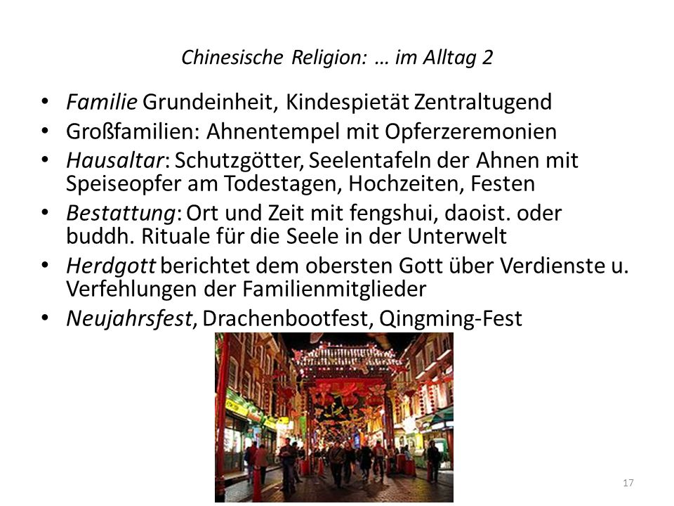 Chinesische Religion: … im Alltag 2