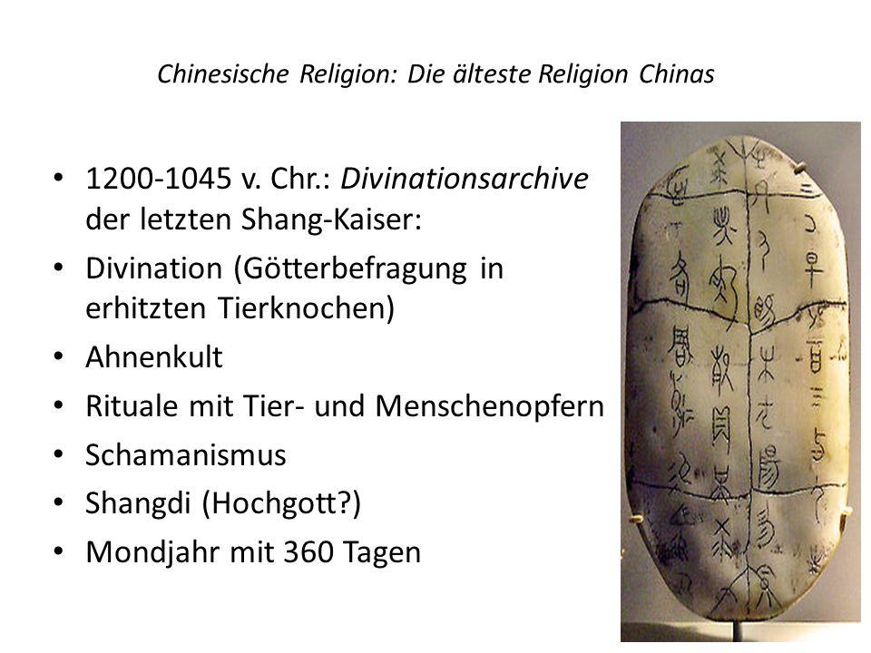 Chinesische Religion: Die älteste Religion Chinas