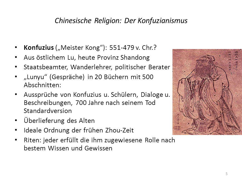 Chinesische Religion: Der Konfuzianismus