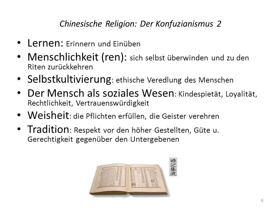 Chinesische Religion: Der Konfuzianismus 2