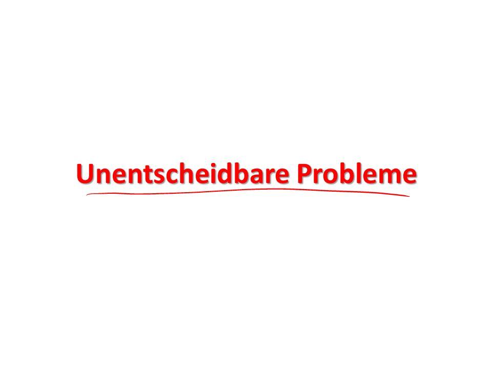 Unentscheidbare Probleme