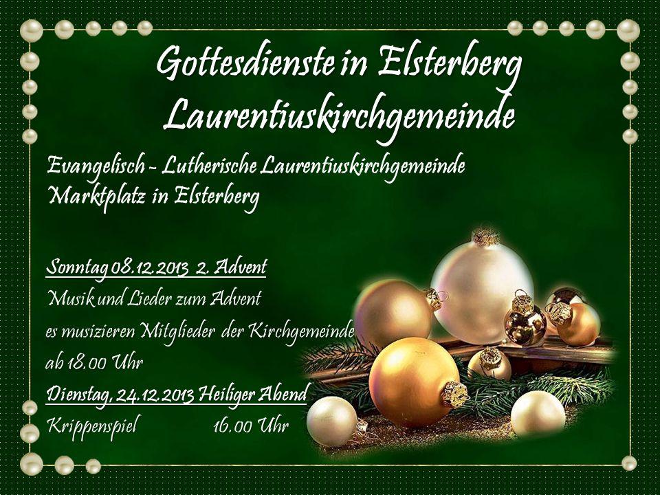 Gottesdienste in Elsterberg Laurentiuskirchgemeinde