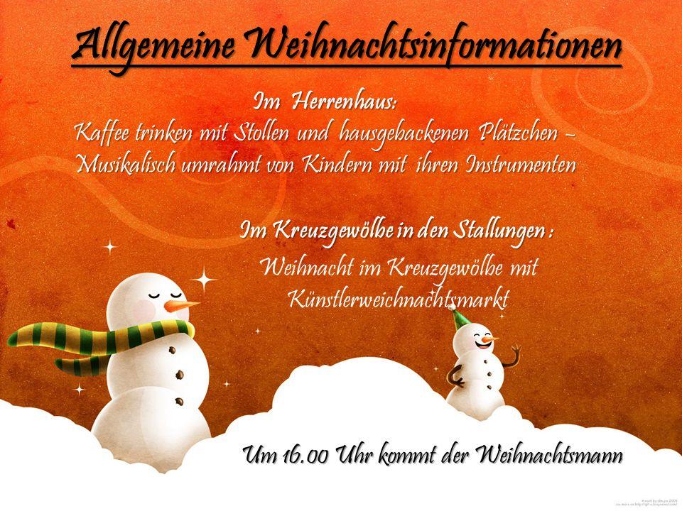 Allgemeine Weihnachtsinformationen