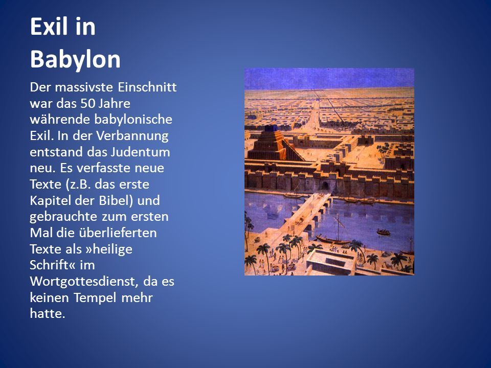 Exil in Babylon