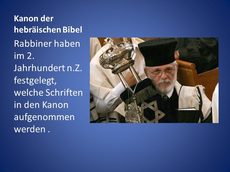 Kanon der hebräischen Bibel