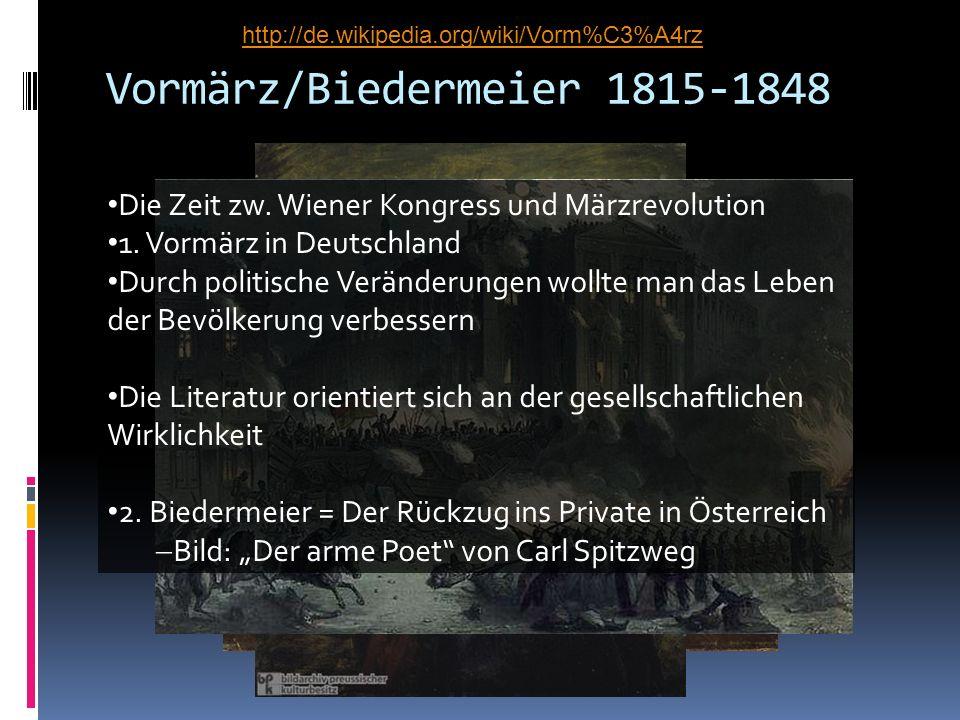 Vormärz/Biedermeier 1815-1848