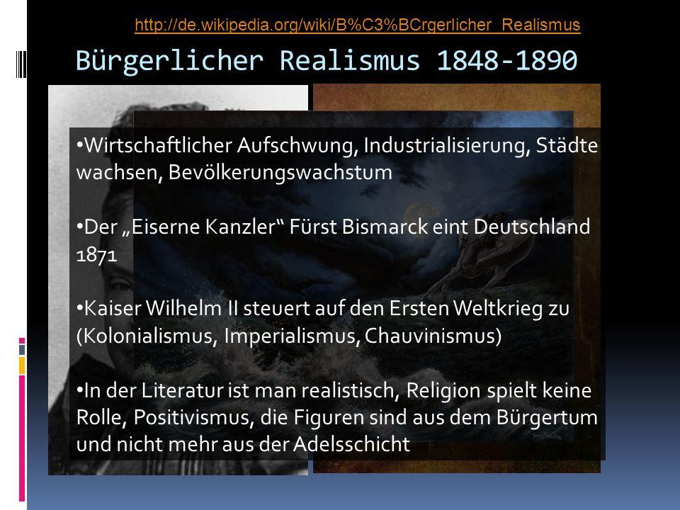 Bürgerlicher Realismus 1848-1890