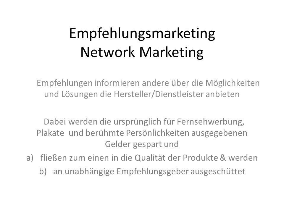 Empfehlungsmarketing Network Marketing