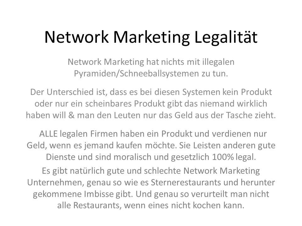 Network Marketing Legalität