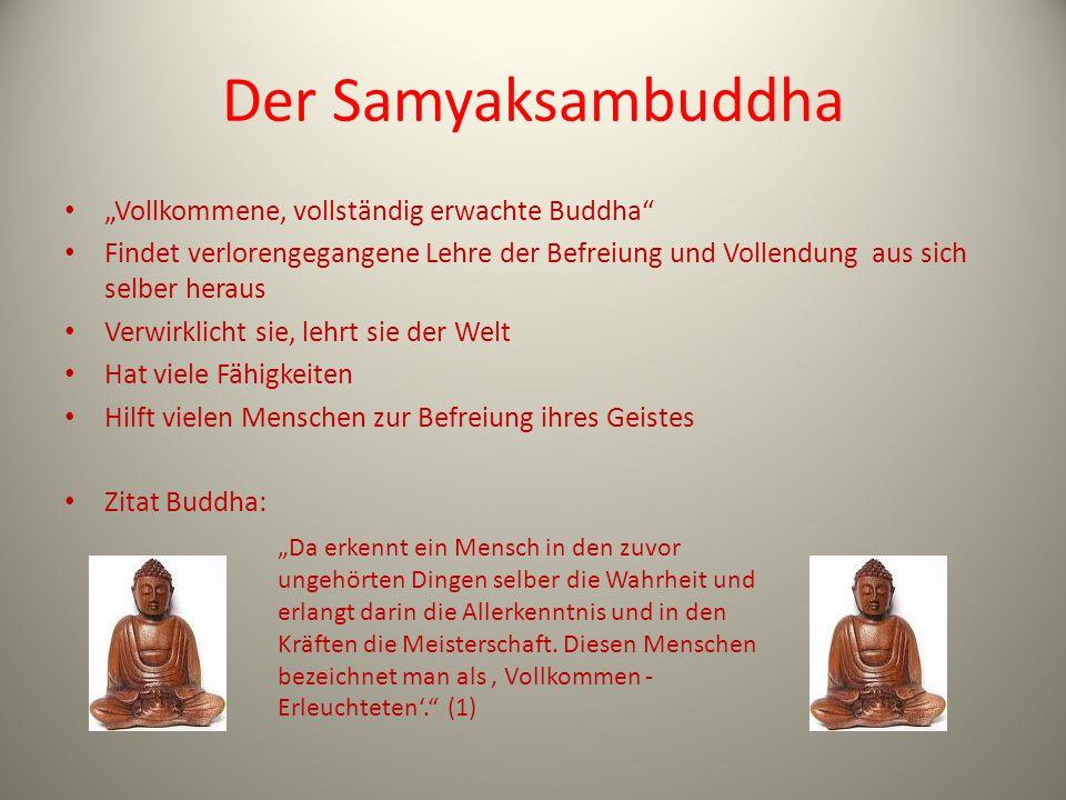 """Der Samyaksambuddha """"Vollkommene, vollständig erwachte Buddha"""