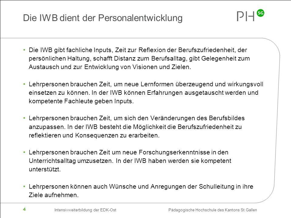 Die IWB dient der Personalentwicklung