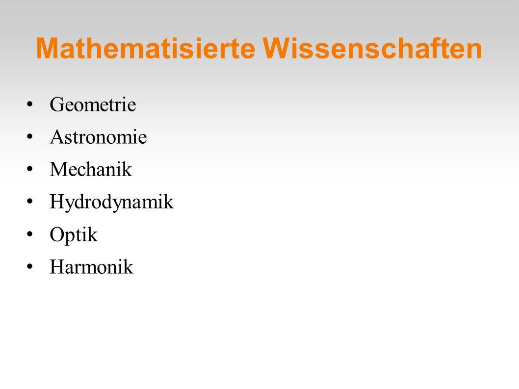 Mathematisierte Wissenschaften