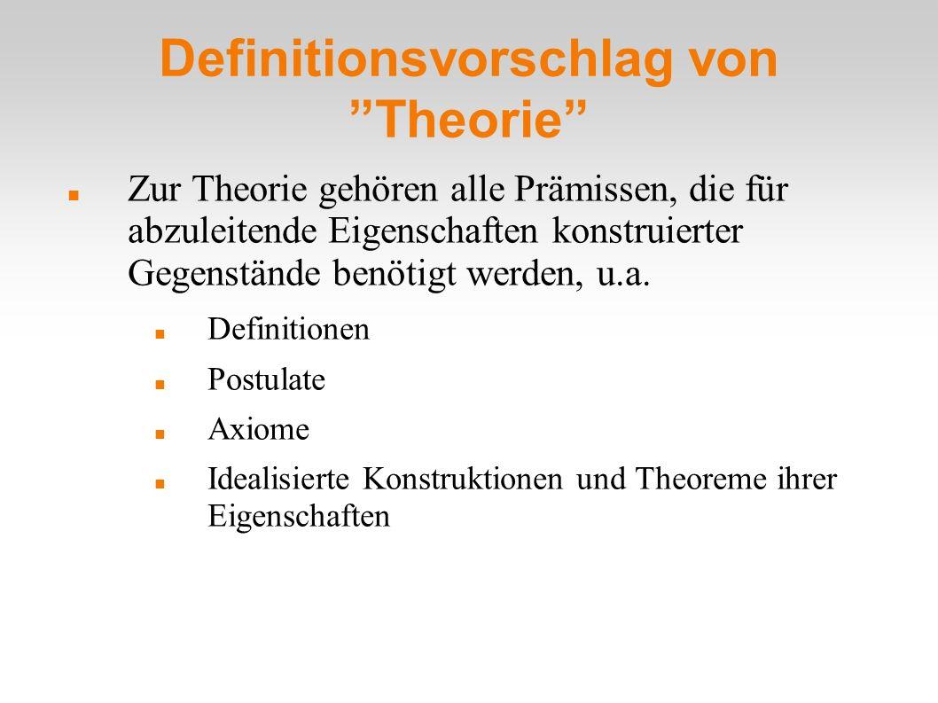 Definitionsvorschlag von Theorie