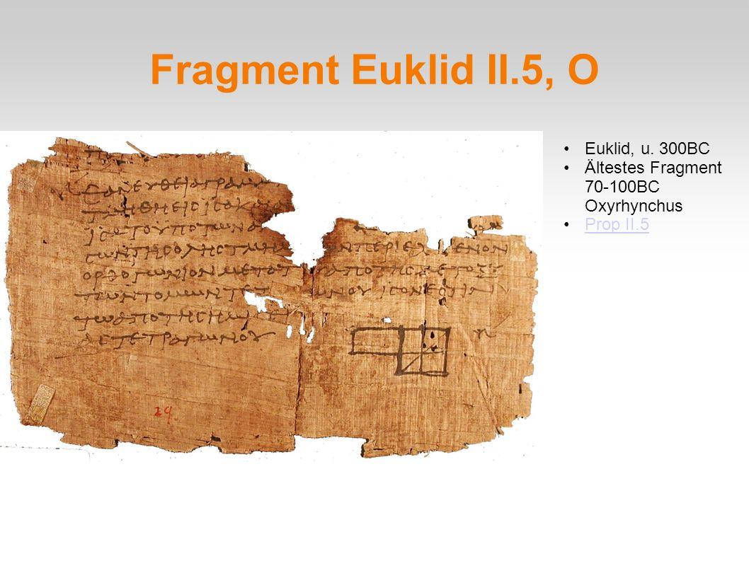 Fragment Euklid II.5, O Euklid, u. 300BC