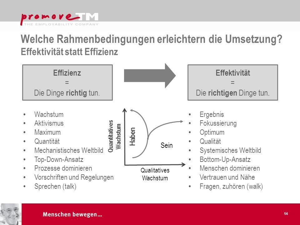 Welche Rahmenbedingungen erleichtern die Umsetzung