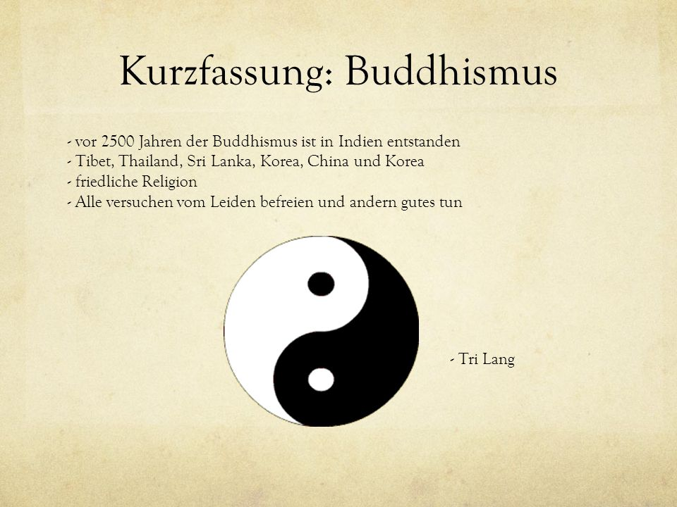 Kurzfassung: Buddhismus