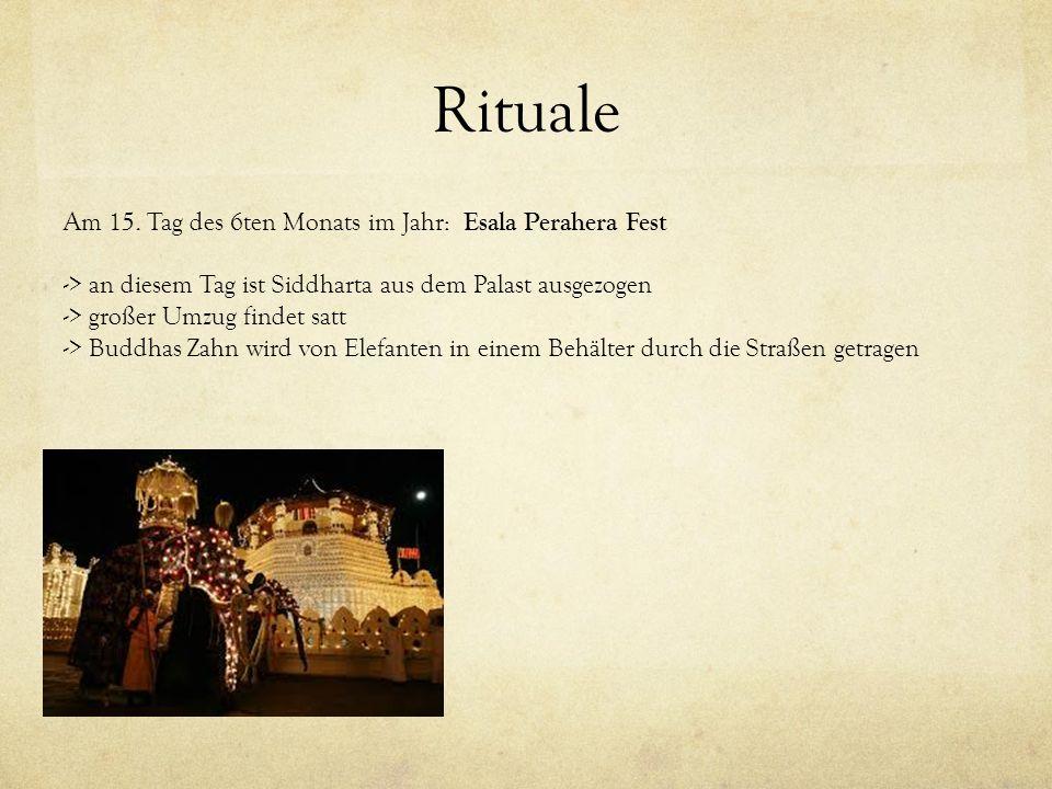 Rituale Am 15. Tag des 6ten Monats im Jahr: Esala Perahera Fest