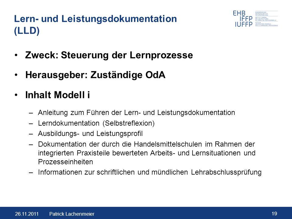 Lern- und Leistungsdokumentation (LLD)