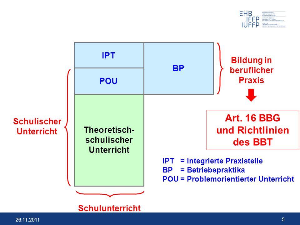 und Richtlinien des BBT