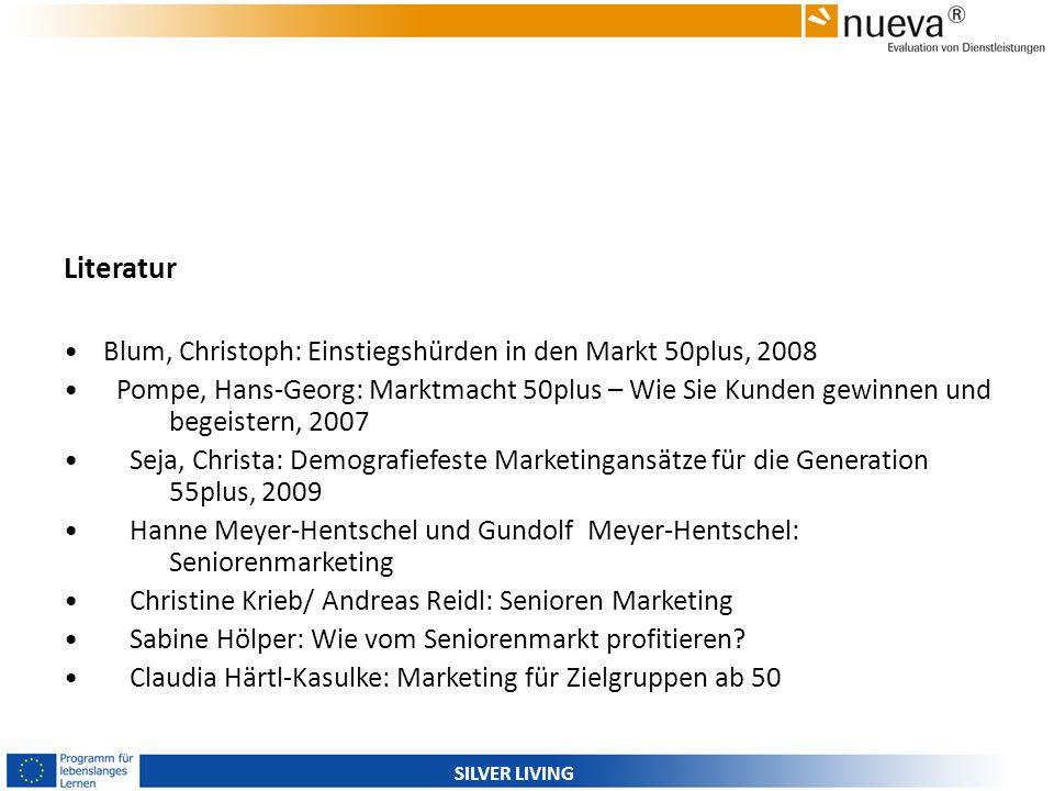 Literatur Blum, Christoph: Einstiegshürden in den Markt 50plus, 2008