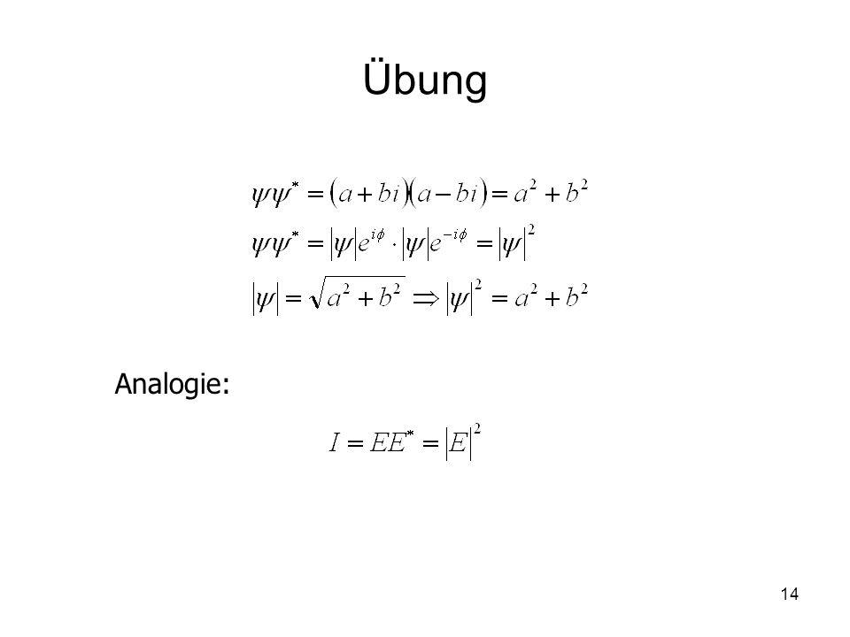 Übung Analogie: