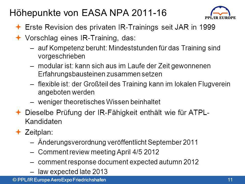 Höhepunkte von EASA NPA 2011-16