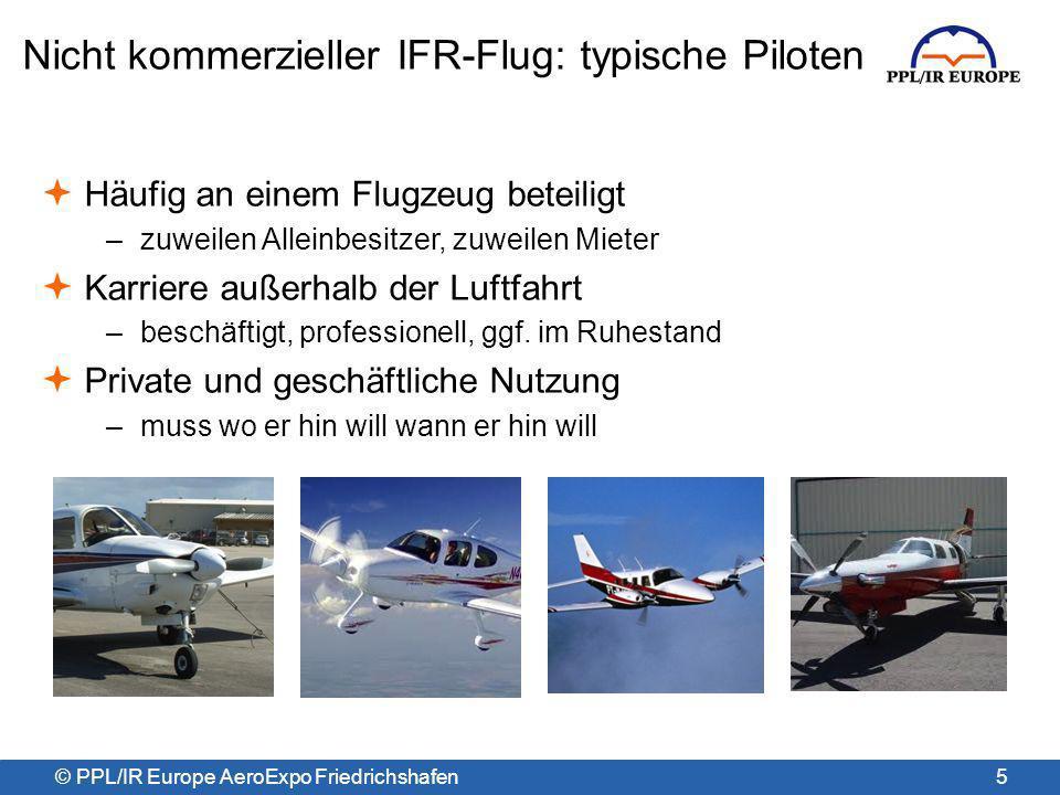 Nicht kommerzieller IFR-Flug: typische Piloten