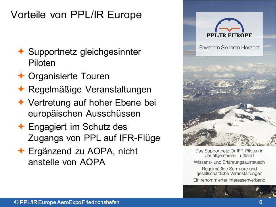 Vorteile von PPL/IR Europe