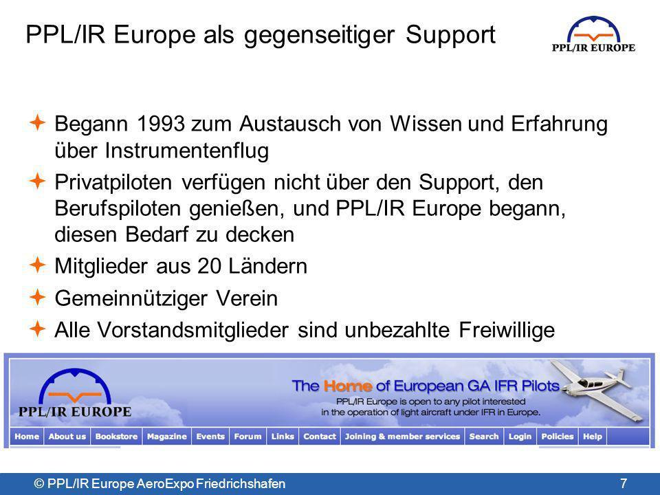 PPL/IR Europe als gegenseitiger Support
