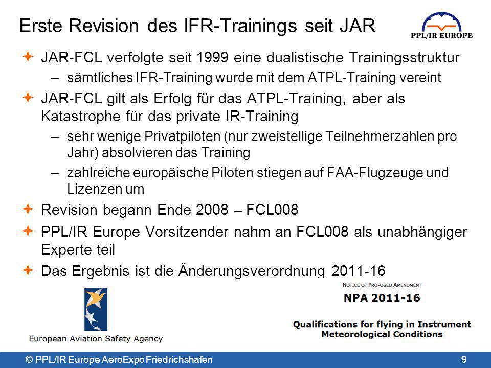 Erste Revision des IFR-Trainings seit JAR