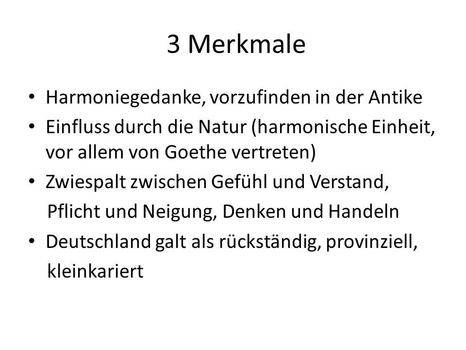 3 Merkmale Harmoniegedanke, vorzufinden in der Antike