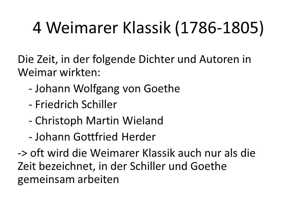 4 Weimarer Klassik (1786-1805)