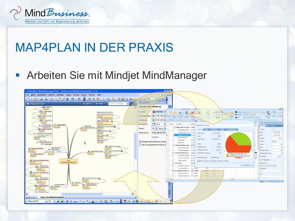 Map4Plan in der Praxis Arbeiten Sie mit Mindjet MindManager