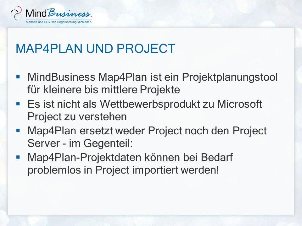 Map4Plan und Project MindBusiness Map4Plan ist ein Projektplanungstool für kleinere bis mittlere Projekte.