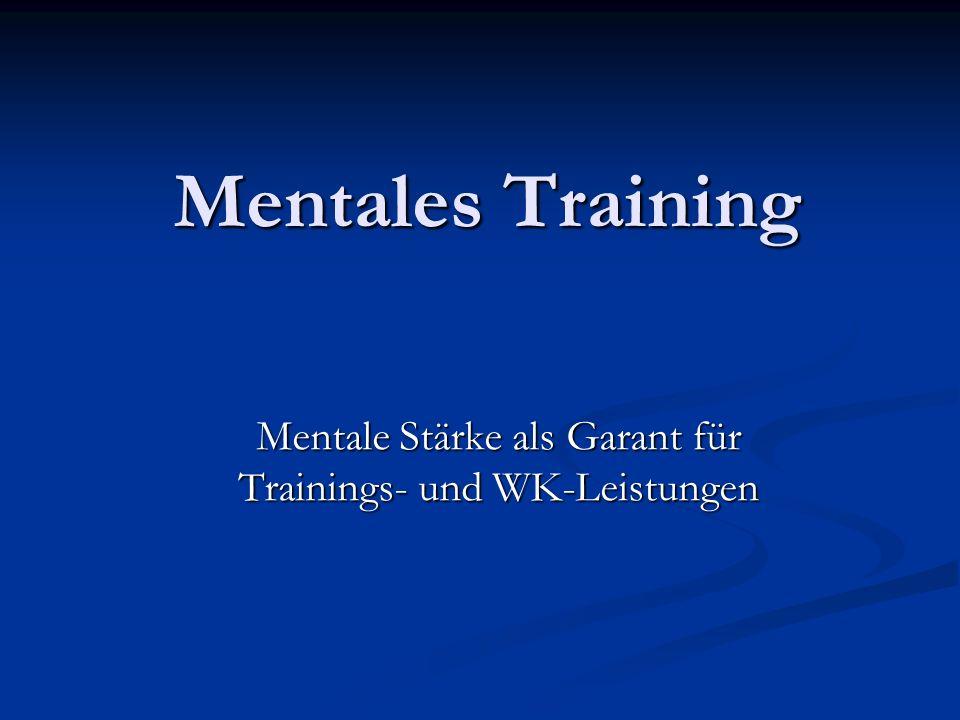 Mentale Stärke als Garant für Trainings- und WK-Leistungen