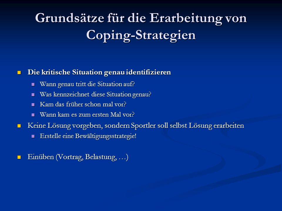 Grundsätze für die Erarbeitung von Coping-Strategien