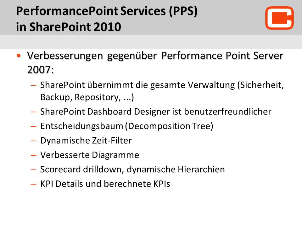 PerformancePoint Services (PPS) in SharePoint 2010