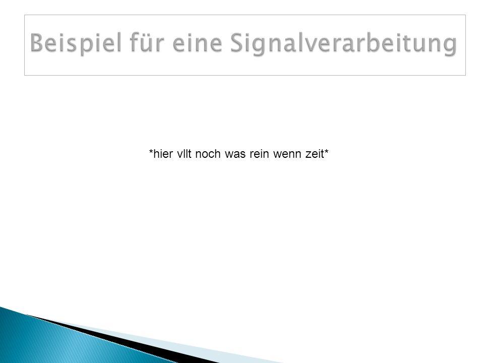 Beispiel für eine Signalverarbeitung