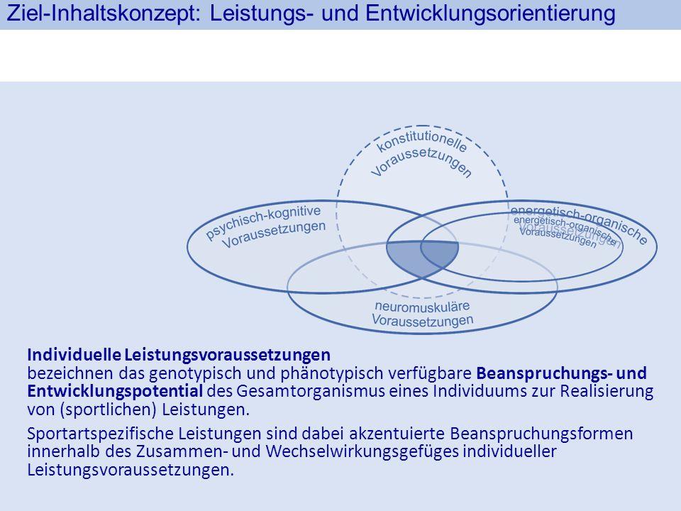 Ziel-Inhaltskonzept: Leistungs- und Entwicklungsorientierung