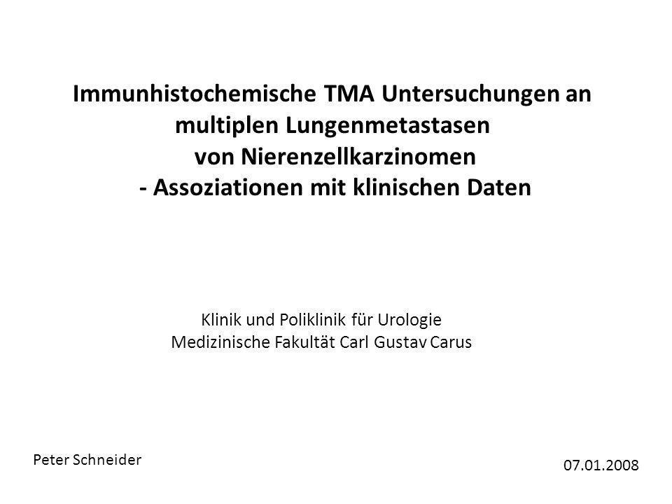 Immunhistochemische TMA Untersuchungen an multiplen Lungenmetastasen
