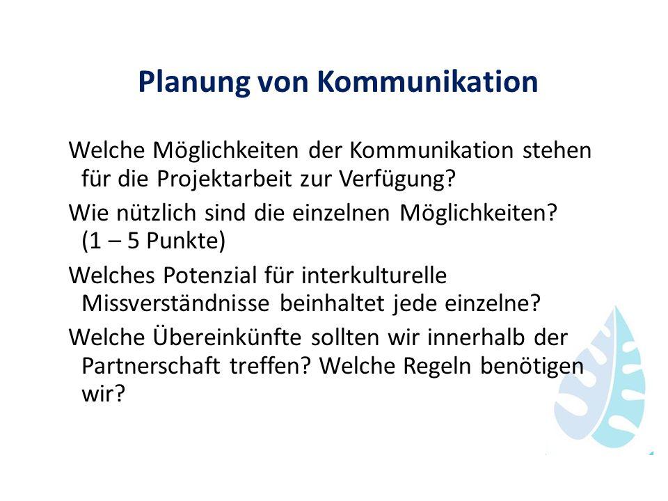 Planung von Kommunikation