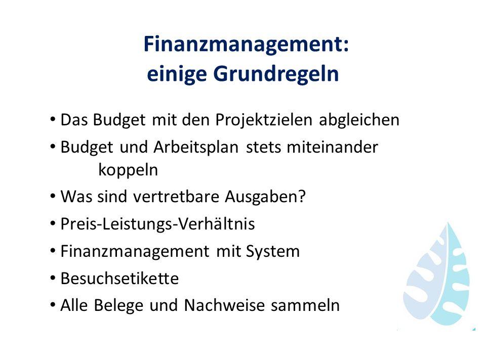 Finanzmanagement: einige Grundregeln