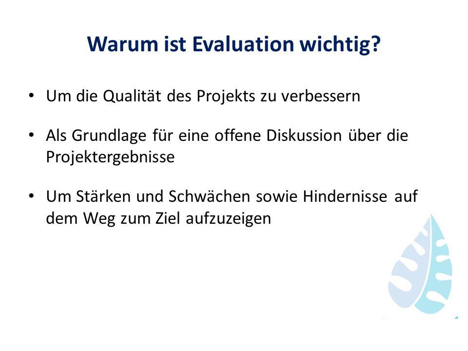 Warum ist Evaluation wichtig